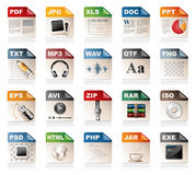 File format icons Royalty Free Stock Image