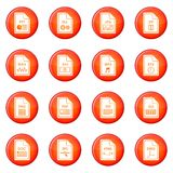 File format icons vector set Royalty Free Stock Photo