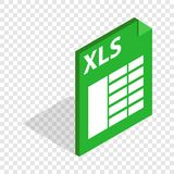 File format xls isometric icon. 3d on a transparent background vector illustration royalty free illustration