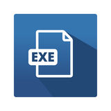 File formats icon EXE Royalty Free Stock Images