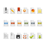File formats icons Stock Photo