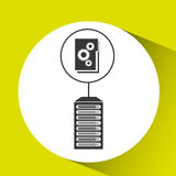 File gear data center connection. Vector illustration eps 10 Royalty Free Stock Photo