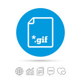 File GIF sign icon. Download image file. Royalty Free Stock Photography