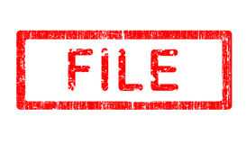 File Grunge Stamp Royalty Free Stock Photo