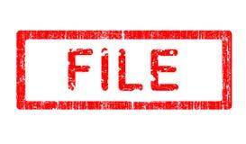File Grunge Stamp royalty free stock photo
