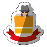 File hacker and security system design. File and hacker icon. Security system warning protection and danger theme.  design. Vector illustration Royalty Free Stock Images
