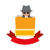 File hacker and security system design. File and hacker icon. Security system warning protection and danger theme.  design. Vector illustration Stock Photography