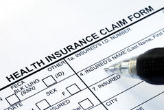 File the health insurance claim form Stock Image