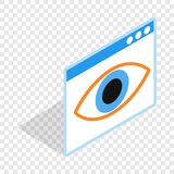 File hide isometric icon. 3d on a transparent background vector illustration Royalty Free Stock Image