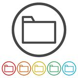 File icon, Folder icon, 6 Colors Included. Simple vector icons set Royalty Free Stock Images