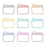 File icon, Folder icon, color icons set. Simple vector icon Royalty Free Stock Photo