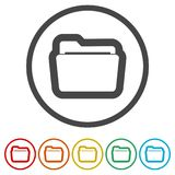 File icon, Folder icon, 6 Colors Included. Simple  icons set Royalty Free Stock Photos
