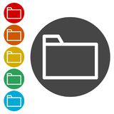 File icon, Folder icon. Simple vector icons set Royalty Free Stock Image