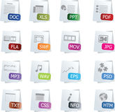 File Icon Set Stock Photography