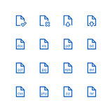 File icon set. Vector minimalist. Different files on the white background Royalty Free Stock Photos