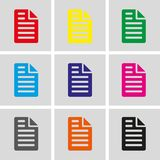 File icon stock vector illustration flat design Stock Image