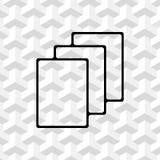 File icon stock vector illustration flat design Stock Photo