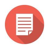 File Icon. File vetor Glyphs Shadow Icon Stock Photo