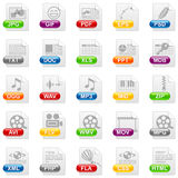 File icons. File internet icons on white background