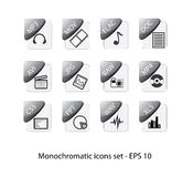 File icons. Grayscale document and file icons  isolated on white background with the format EPS 10 Stock Photo