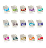 File_icons Stock Photo