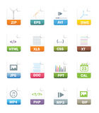 File icons Royalty Free Stock Image