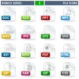 File Icons - Robico Series Stock Photo
