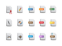 File icons set. Some file icons set for design Royalty Free Stock Image