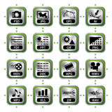 File icons set Royalty Free Stock Photography