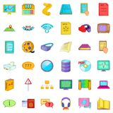 File icons set, cartoon style. File icons set. Cartoon style of 36 file vector icons for web isolated on white background Royalty Free Stock Images