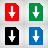 File icons set great for any use. Vector EPS10. Royalty Free Stock Images