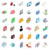 File icons set, isometric style. File icons set. Isometric style of 36 file vector icons for web isolated on white background Royalty Free Stock Photo