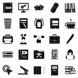 File icons set, simple style Royalty Free Stock Photography
