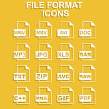 File Icons. Vector concept illustration for design Royalty Free Stock Images