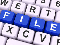 File Keys Show Files Or Data Filing. File Keys Showing Files Filing Or Portfolio Royalty Free Stock Images