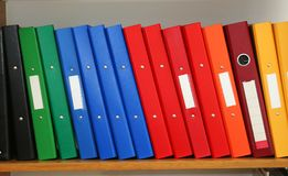 File la mensola Immagine Stock
