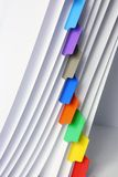 File with Labels. Close Up of File with Labels Royalty Free Stock Photos