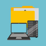 File laptop data server. Vector illustration eps 10 Stock Photos