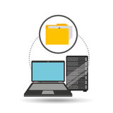 File laptop data server. Vector illustration eps 10 Stock Images