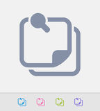 File & Magnifier - Granite Icons. A professional, pixel-perfect icon designed on a 32x32 pixel grid and redesigned on a 16x16 pixel grid for very small sizes Stock Photos