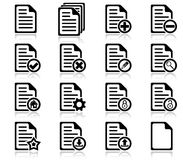 File management and administration icons. Set of file management and administration icons Stock Photography