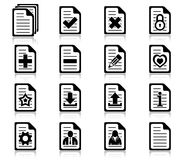 File management and administration icons. Set of file management and administration icons Royalty Free Stock Images