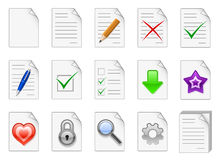 File management and administration icons. Set of file management and administration color icons Stock Images