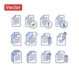 File management variations. Very clean graphic illustration vector flat style for your landing page or commercial web site Royalty Free Stock Images