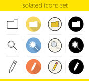 File manager icons set Royalty Free Stock Images