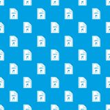 File MP3 pattern seamless blue. File MP3 pattern repeat seamless in blue color for any design. Vector geometric illustration Stock Photography