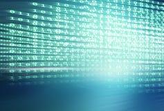 File multiple del fondo blu digitale di tema di codici binari Fotografia Stock