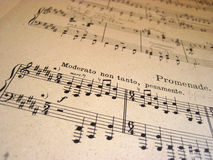 File for musical backgrounds Stock Photo