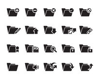 File n Folder Icons Stock Photo