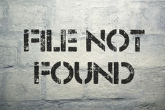 File not found Royalty Free Stock Photos